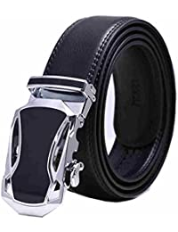 SAMGU Cuir noir ceinture Mode Hommes avec boucle automatique Automatic Buckle Couleur Noir