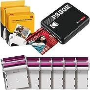 Kodak Mini 3 Retro Square Retro Impresora Fotográfica Portátil, Compatible con Dispositivos iOS, Android y Blu