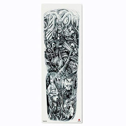 Tatuaggio per tatuaggio con braccio a forma di fiore cinese, manica tatuaggio temporanea con body painting, confezione da 4,17×48cm