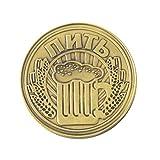 Healifty Sammlermünzen Russische gefüllt mit Bier Münze Kunstsammlung Souvenir Geschenk (Bronze)