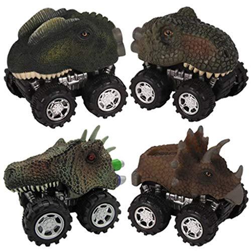 Kofun Dinosaurierautos, Neuheit Wikinger Helm Pirat Halloween Kostüme Hut Festival Party Seltsame Hut Idealer Weihnachtsgeburtstag Auto-Spielzeug Geschenk Für Kinder 4 Stück ()