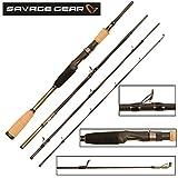 Savage Gear Roadrunner XLNT2 213cm 20-70g Spinnrute, Angelrute zum Spinnfischen, Rute zum Spinnangeln, 4-teilige Steckrute, Angel für Zander, Barsch, Forellen & Hecht, Reiserute