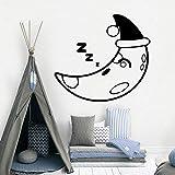 BailongXiao Moderne Gute Nacht tapete wohnkultur wandaufkleber für Wohnzimmer kinderzimmer Hintergrund wandkunst Aufkleber 42 cm X 45 cm