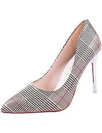 DIMAOL Zapatos de Mujer PU Confort Primavera Tacones Stiletto Talón Señaló Toe Para Oro Plata Casual