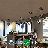 LED Strahler Spotlight Retro Industrie Wand Spot Deckenstrahler Vintage Schwenkbar Deckenspot Einstellbare Flexible Wandlampe Deckenlampe Innen Lampe Beleuchtung Leuchte Wohnzimmer Schlafzimmer 5W