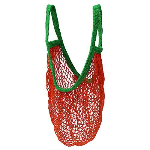 MagiDeal Einkaufsnetz Tasche Kartoffelsack Einkaufsnetz - Orange