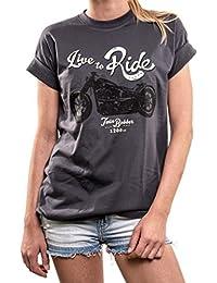 Biker Shirts große Größen - Live to Ride - Oversize Top locker lässig Übergröße