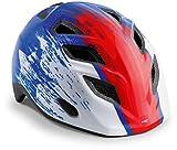 MET Elfo Klein 570003 Casque de vélo pour Enfant Bleu/Rouge 46-53 cm