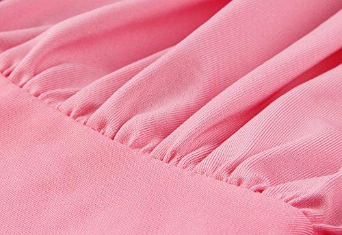 EasyMy Damen Maxi Abendkleider Lang Cabrio Multi-Way Party Cocktailkleid Brautjungfer Kleider Rosa