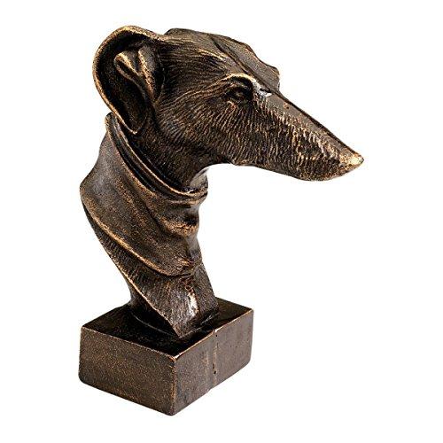 Progettazione Toscano SP91296 Il Whippet cane ghisa scultura in ferro, due pezzi