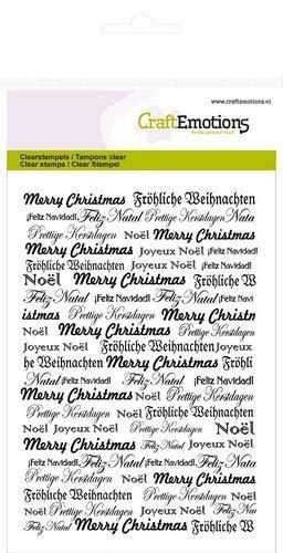 CraftEmotions clearstamps A6 - Hintergrundtext Weihnachten -