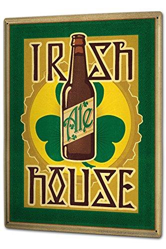 Cartello Targa in Metallo XXL Cucina Birra Birreria Irish Beer Ale House Clover - Irish Ale