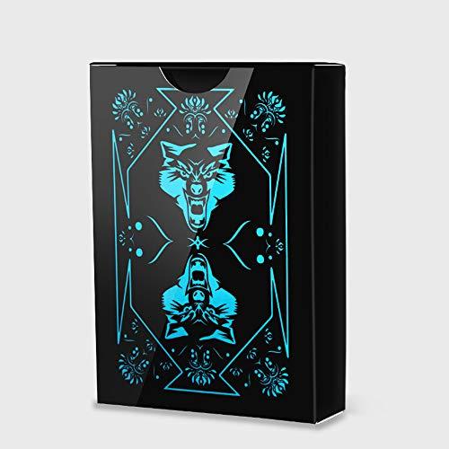 Dickes Plastik Pvc Spielkarten, Kreative Pokerkarten, Wolf- Spielkarten, Magisches Design, Verschleißfest, Wasserdicht, Mattes Plastik-poker Decks, Faltbar, Leicht Zu Mischen, Zaubertrick-werkzeuge
