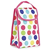 600D Polyester Personal Lunch Bag - Cool Bag With Velctro Closure Polka Dots