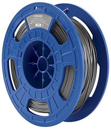 Dremel 26153D50JB Filament pour Imprimante 3D en PLA, Diamètre 1,75 mm, Argenté