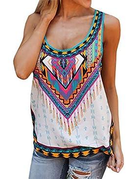purfeel Womens Vintage Tribu Top tanque blusa chaleco