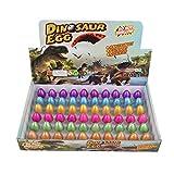 Yeelan Uova di dinosauro Toy Hatching Growing Dino Dragon Egg per bambini Small Size Pack di 60 pezzi, Colorato