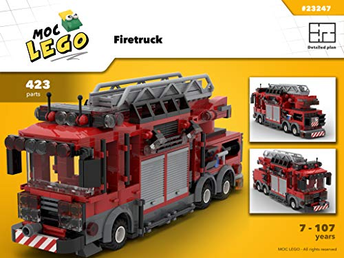 Fire Engine (Instruction Only): MOC LEGO (English Edition)