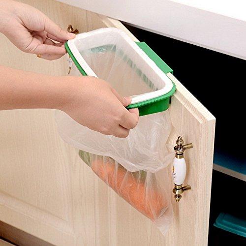 Schrank Tür Rückseite Trash Rack Storage Garbage Bag Holder Aufhängen Küche Schrank zum Aufhängen Trash Rack Küche Zubehör (Holder Waste Bag)