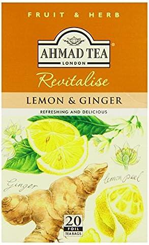 Ahmad Tea Lemon and Ginger (Pack of 1, Total 20 Aluminium Foil Envelopes)