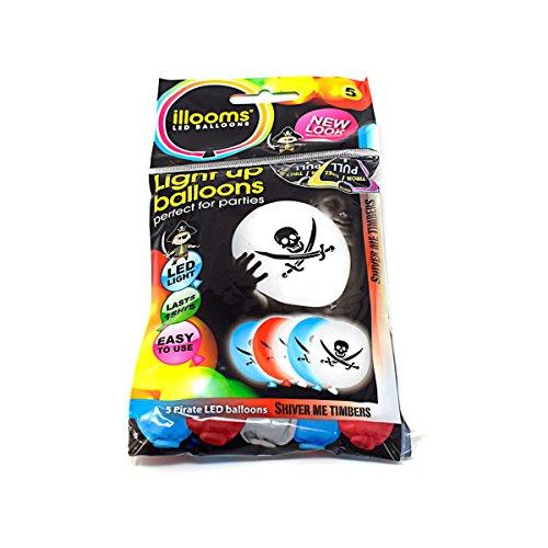 Neue Packung von 10 Piraten Illoom Light up LED Ballons verwegene Ballons Packs von 5 bis 50 hohe Meere wie gesehen auf Dragons den Light up Ballons Party Dekor Luminous - Dekor Beste Halloween-party