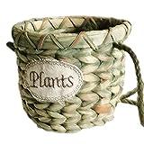 Hängeampel für den Garten, Blumen, Blumenaufhänger, handgewebtes Seegras, Topfhalter, Rattan, Vase, Behälter, Dekoration für drinnen und draußen, robuster Blumentopf