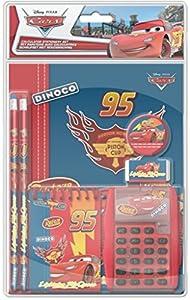 Frajodis 0006377 - Set de papelería con calculadora, Cars