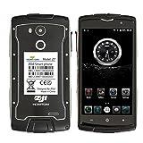 Rugged Smartphone 4G,HOMTOM ZOJI Z7 Metallic IP68 Waterproof SIM Free Mobile phone Unlocked Android 6.0 - MTK6737 Quad Core 1.3GHz,Dual Camera 8MP + 5MP,2GB RAM + 16GB ROM,5.0 inch Corning Gorilla Glass Screen,Fingerprint Unlock,Dual Sim,GPS (Black)
