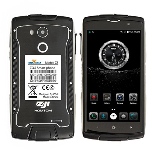 Rugged-Smartphone-4GHOMTOM-ZOJI-Z7-Metallic-IP68-Waterproof-SIM-Free-Mobile-phone-Unlocked-Android-60-MTK6737-Quad-Core-13GHzDual-Camera-8MP-5MP2GB-RAM-16GB-ROM50-inch-Corning-Gorilla-Glass-ScreenFing