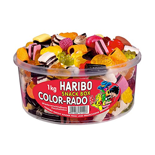 HARIBO Bte 1 Kg bonbons gélifiés aux fruits COLOR-RADO