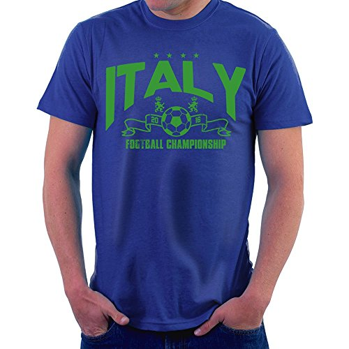 Euro 2016 Football Italy Italia Stars Blue Men\'s T-Shirt