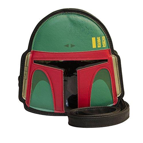 Star Wars Tasche Boba Fett Helm Crossbody Bag Damen von Loungefly grün (Cross Patch Body)
