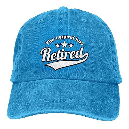 Naiyin Unisex Washed The Legend Has Retired Retro Denim Baseball Cap Adjustable Dad Hat