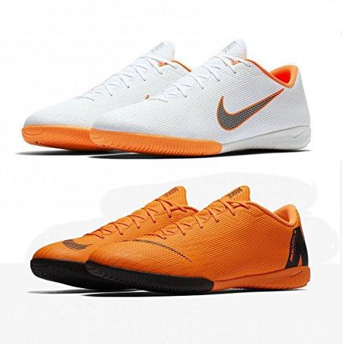 Nike Herren Mercurial Vapor 12 Academy IC Fußballschuhe, Weiß (White/Chrome-Total O 107), 42.5 - Fußball Vapor Nike