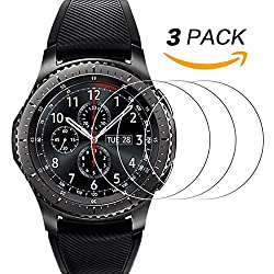 Samsung Gear S3 Screen Protector [3 Pack], Ucmda [9h Hardness] [Anti-scratch] Tempered Glass Screen Protector Film Guard For Samsung Gear S3 Frontier & Classic Smartwatch
