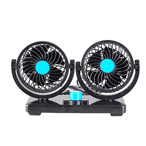 Mini-Lüfter, geräuscharme Luftzirkulation im Auto, tragbarer 360-Grad-Zigarettenanzünder-Lüfter, einstellbare Kühlgeschwindigkeit, geeignet für 12-V-Limousine
