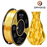 PLA Filamentos 1.75mm Seda Oro Brillante, ERYONE 3D Impresora Filamentos PLA for 3D Impresoras and 3D Pen, 1kg 1 Carrete