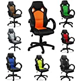 eMarkooz(TM) Swivel desk chair executive office chair Mesh chair ergonomic padded Computer PC Desk chairs adjustable armchair (Green)