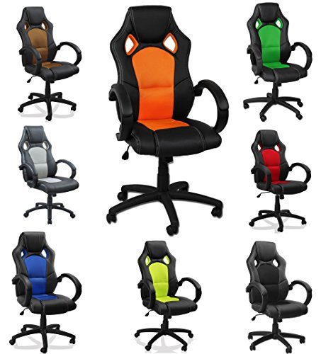 Get eMarkooz(TM) Swivel desk chair executive office chair Mesh chair ergonomic padded Computer PC Desk chairs adjustable armchair (Brown)