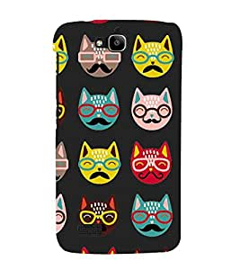 Cartoon, Black, Cartoon and Animation, Printed Designer Back Case Cover for Huawei Honor Holly