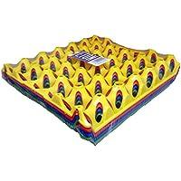 shorefields Eton huevera de plástico bandejas, elección de colores, 4unidades, 30huevos bandeja (negro)