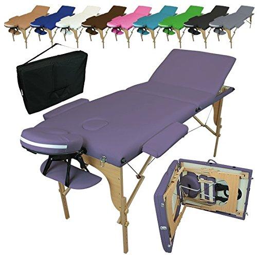 Linxor  Mesa de masaje plegable 3 zonas de madera...
