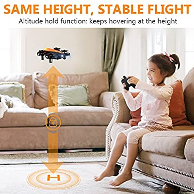 HELIFAR H802 mini drone, RC quadrocopter with 6-axis gyro, Altitude Hold and Headless Mode, 360 ° rotary, One-Key-Ruturn easy to control, ideal Helicopter gift for beginners (orange)