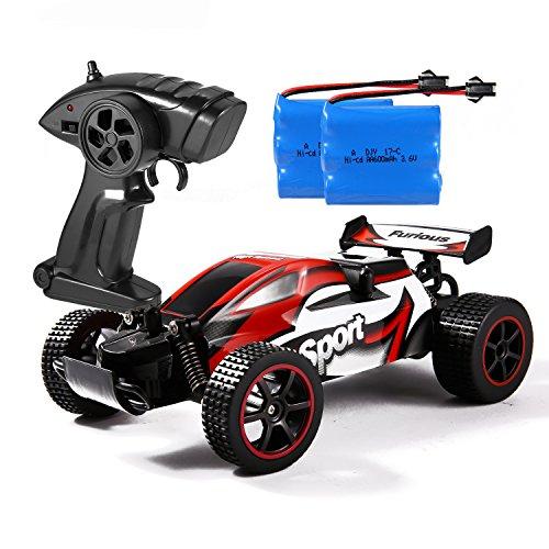 Smibie Ferngesteuertes Auto Elektrische RC Auto 2.4 GHz 1:20 2WD Offroad Fernbedienung Autos High Speed Radio Control Geländewagen für Kinder und Erwachsene (Rot)