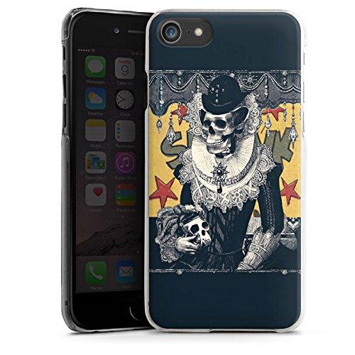 Apple iPhone X Silikon Hülle Case Schutzhülle Totenkopf Schädel Skull Hard Case transparent