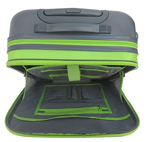 Lightweight Laptop Case on Wheels Business Travel Bag (514 Lime)