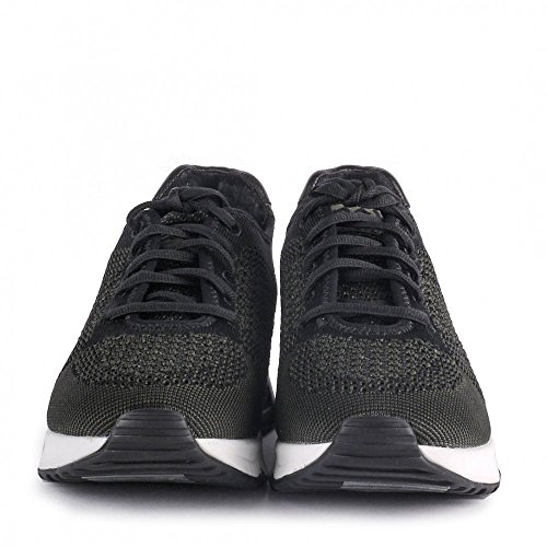 Ash Footwear Lucky Knit Army Green and Black Trainer Army/Noir