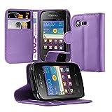Cadorabo Hülle für Samsung Galaxy Pocket 2 - Hülle in Mangan Violett – Handyhülle mit Kartenfach und Standfunktion - Case Cover Schutzhülle Etui Tasche Book Klapp Style