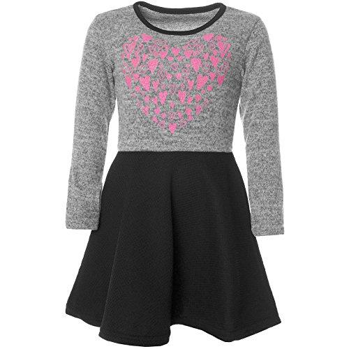 Kostüm Frankreich Mädchen - BEZLIT Mädchen Abend-Kleid Glitzer Motiv Freizeitkleid Kostüm 21528 Grau Größe 116