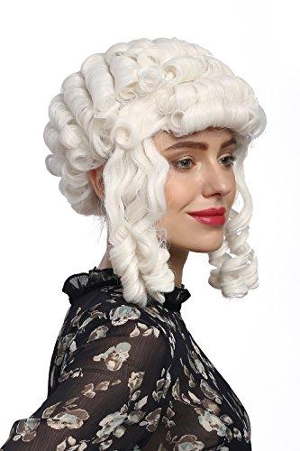 60 Perücke Karneval Fasching Barock Weiß Locken Königin Marie Antoinette Adlige Pompadour (Perücke Marie Antoinette)